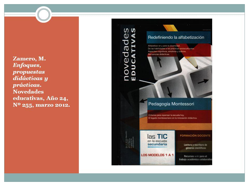 Zamero, M. Enfoques, propuestas didácticas y prácticas
