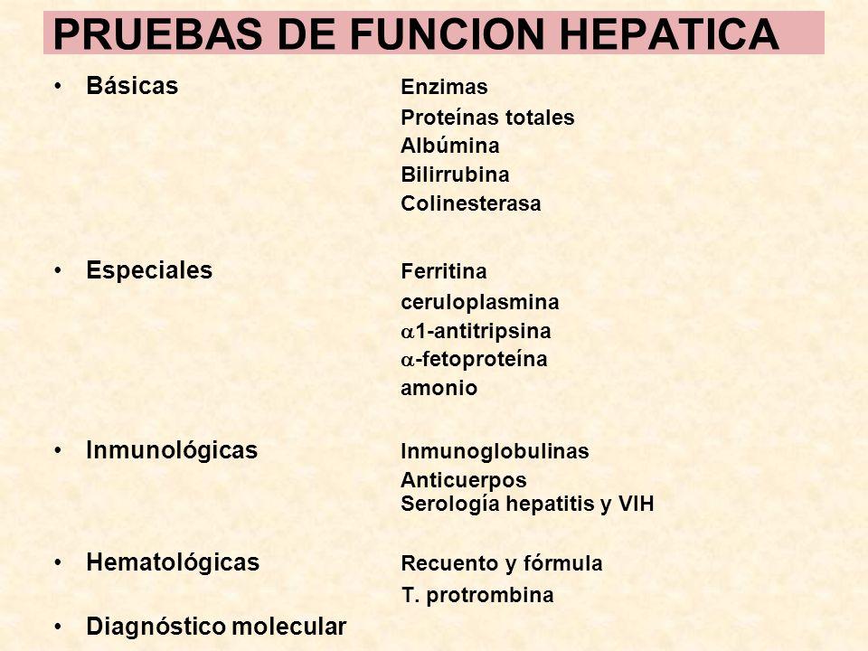 PRUEBAS DE FUNCION HEPATICA
