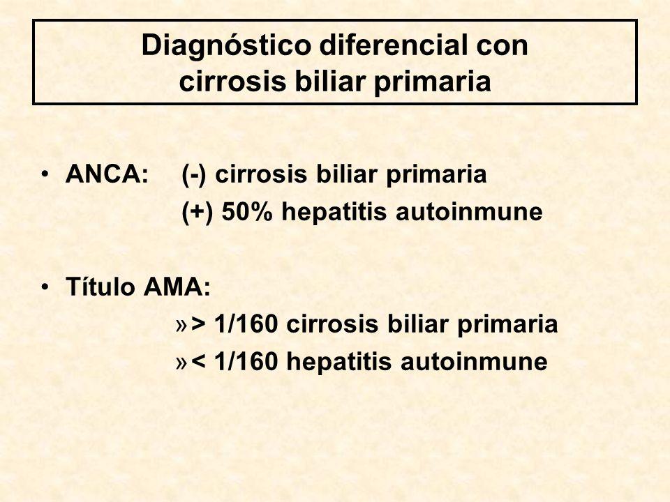 Diagnóstico diferencial con cirrosis biliar primaria