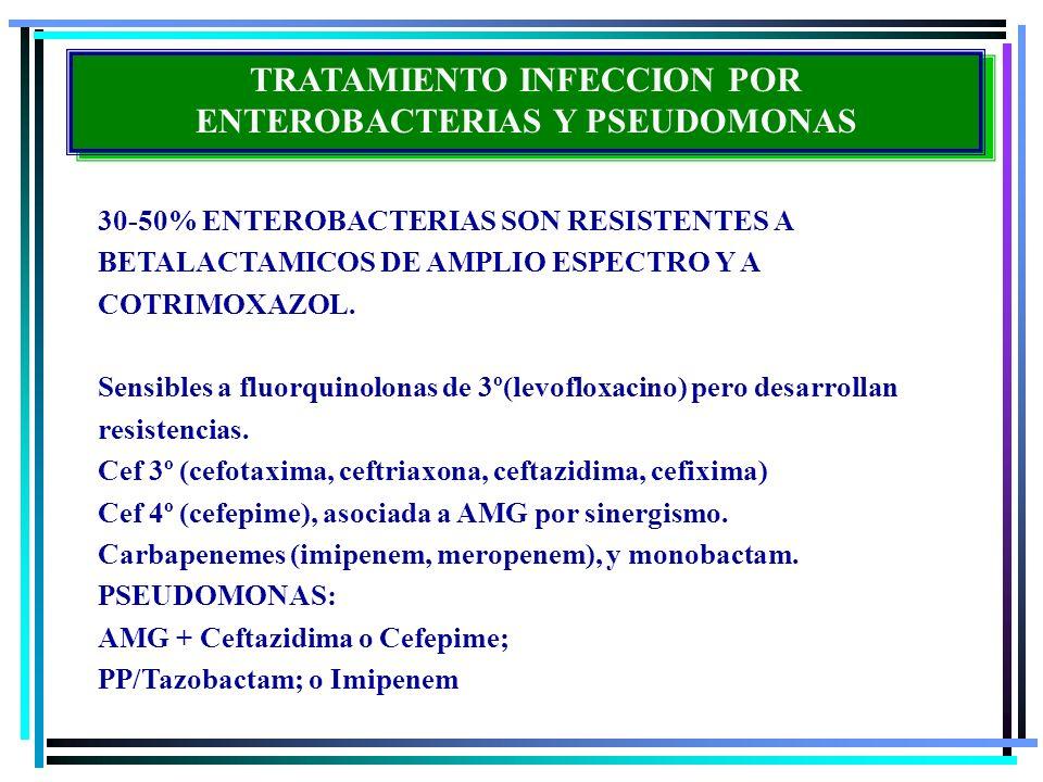 TRATAMIENTO INFECCION POR ENTEROBACTERIAS Y PSEUDOMONAS