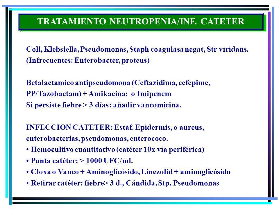 TRATAMIENTO NEUTROPENIA/INF. CATETER