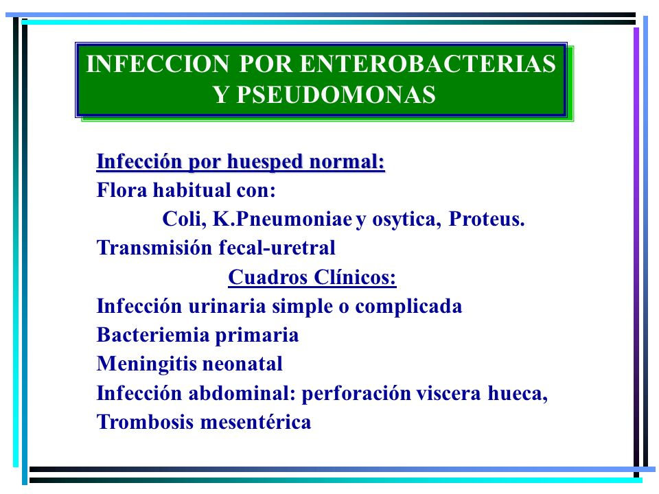 INFECCION POR ENTEROBACTERIAS