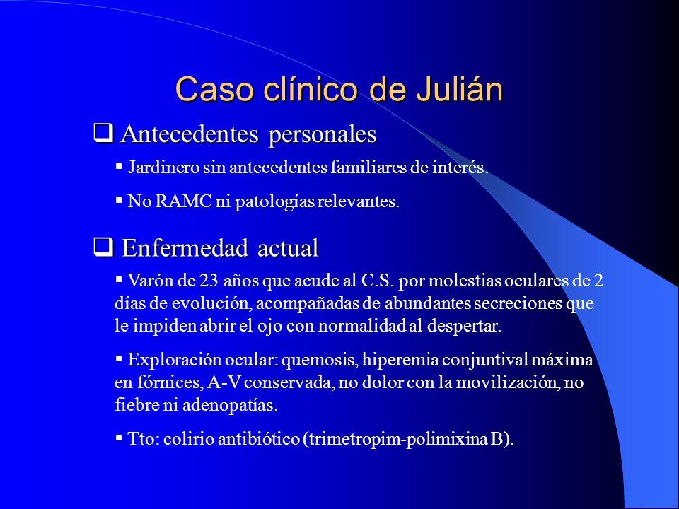Caso clínico de Julián Antecedentes personales Enfermedad actual