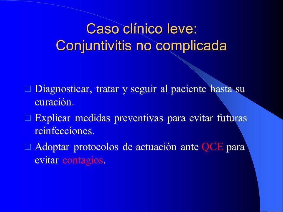 Caso clínico leve: Conjuntivitis no complicada
