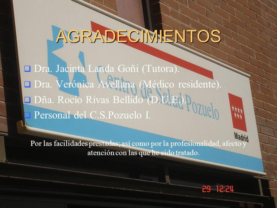AGRADECIMIENTOS Dra. Jacinta Landa Goñi (Tutora).