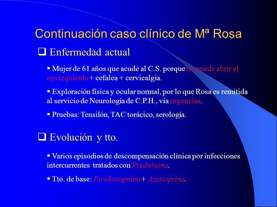 Continuación caso clínico de Mª Rosa