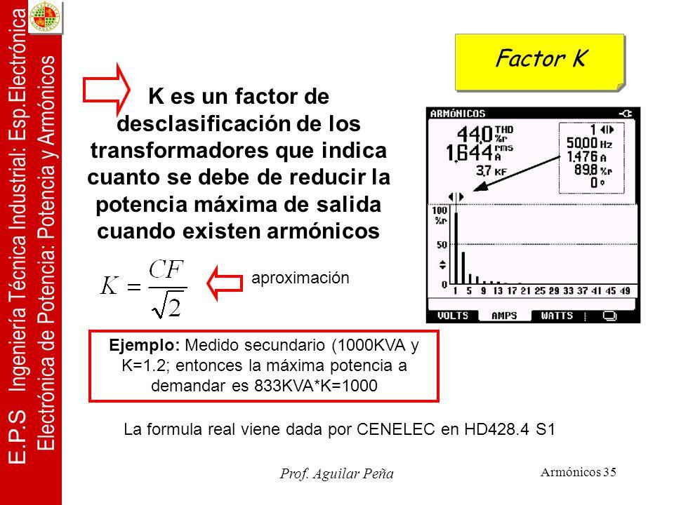 La formula real viene dada por CENELEC en HD428.4 S1