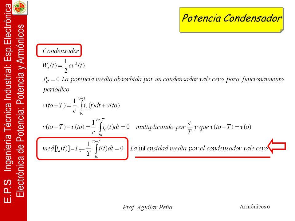 Potencia Condensador Prof. Aguilar Peña