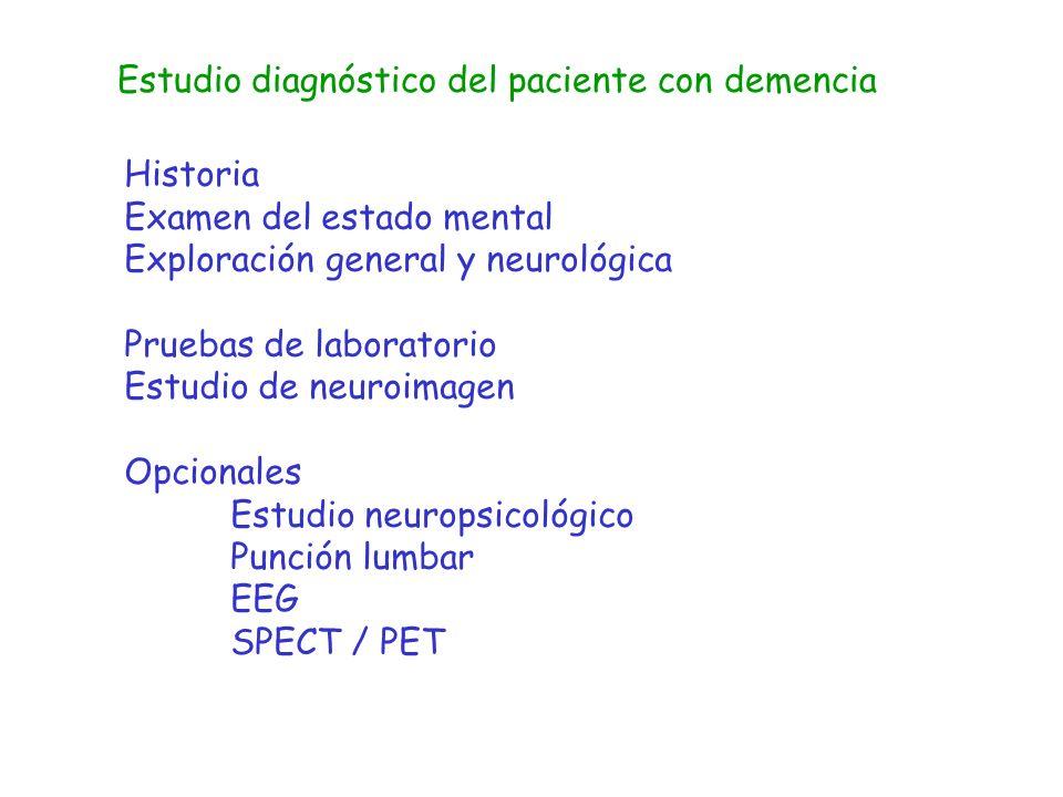 Estudio diagnóstico del paciente con demencia