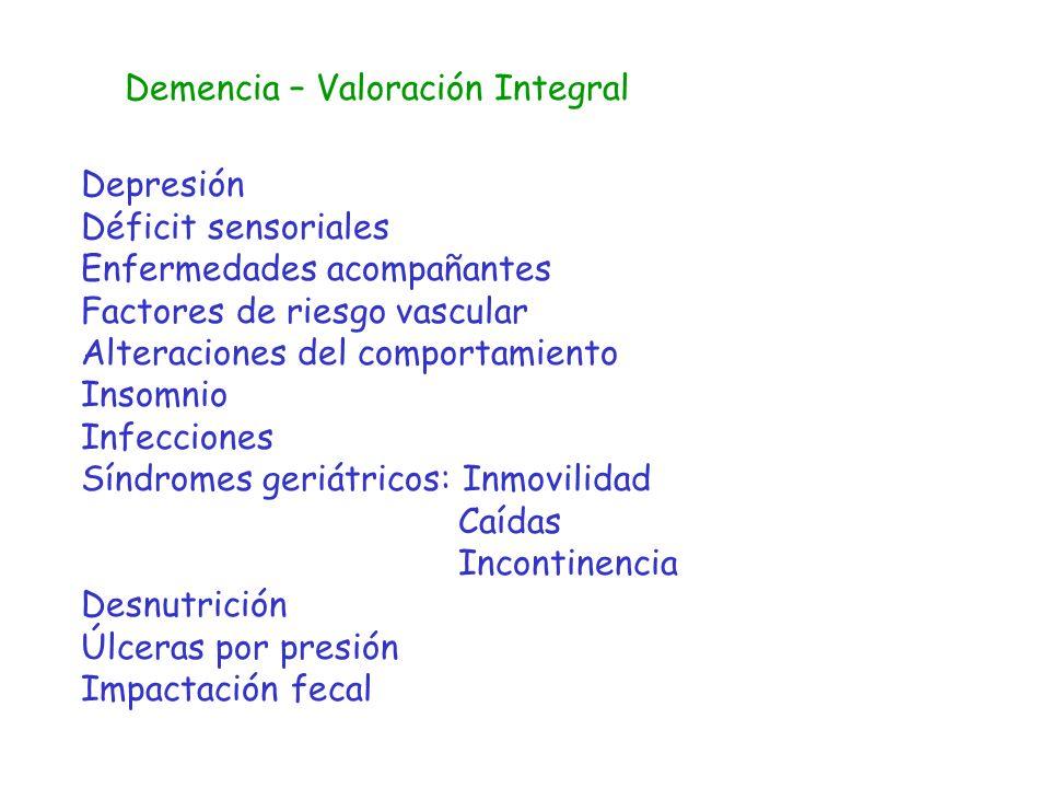 Demencia – Valoración Integral