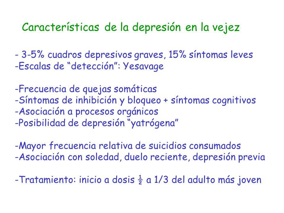 Características de la depresión en la vejez
