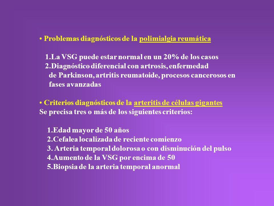 Problemas diagnósticos de la polimialgia reumática