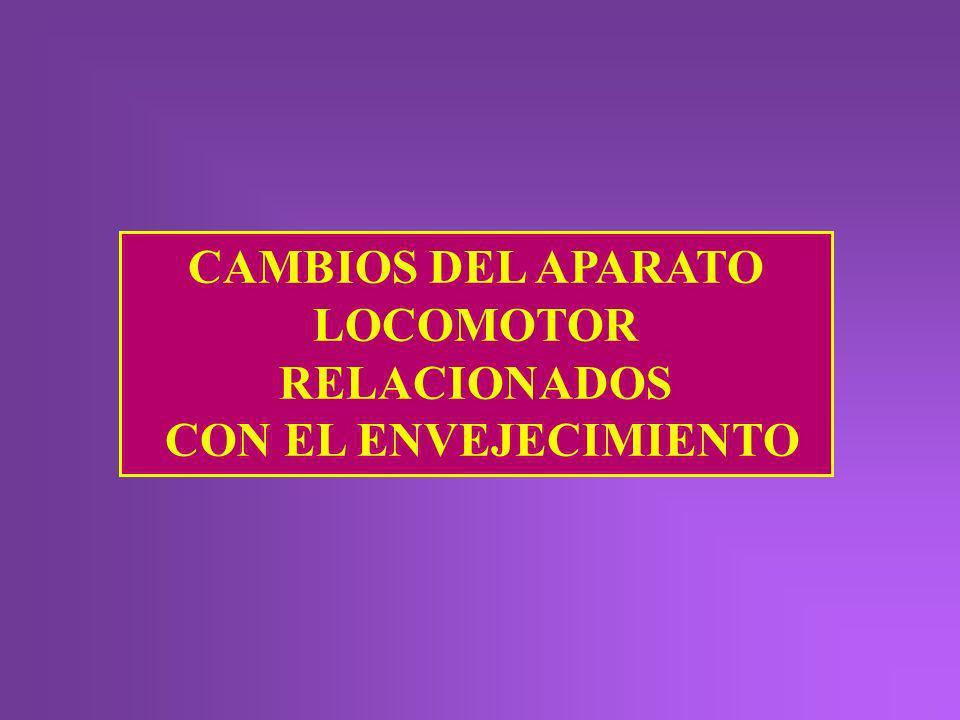 CAMBIOS DEL APARATO LOCOMOTOR RELACIONADOS
