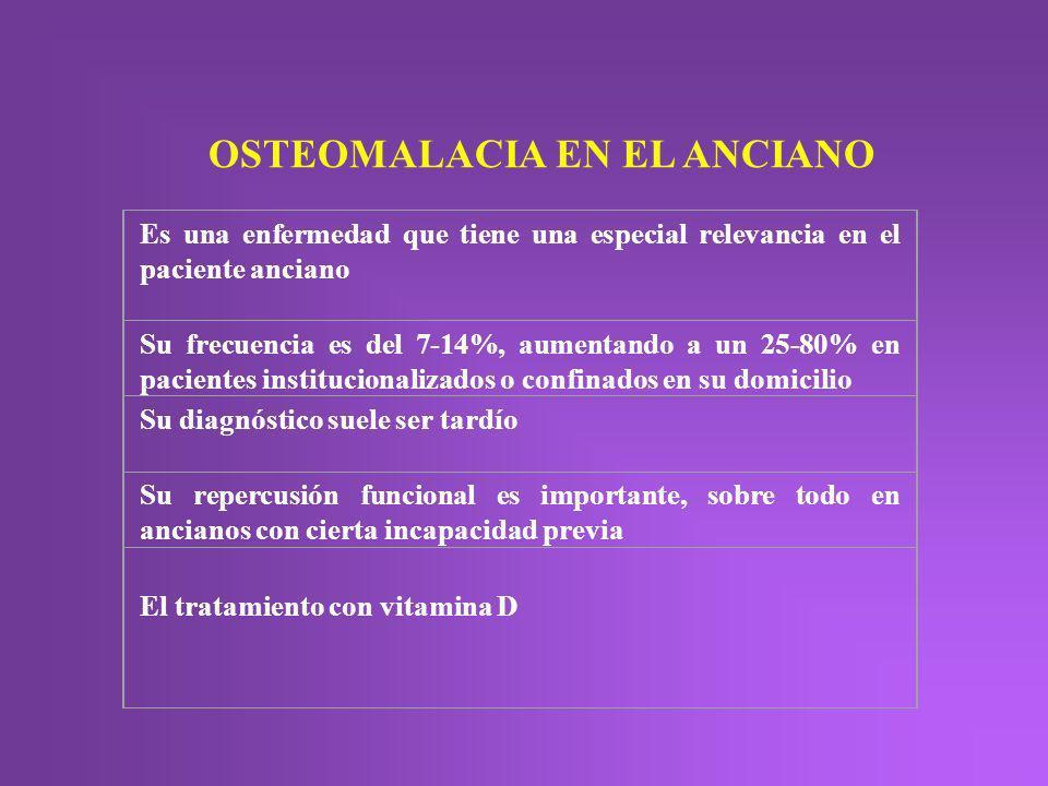 OSTEOMALACIA EN EL ANCIANO