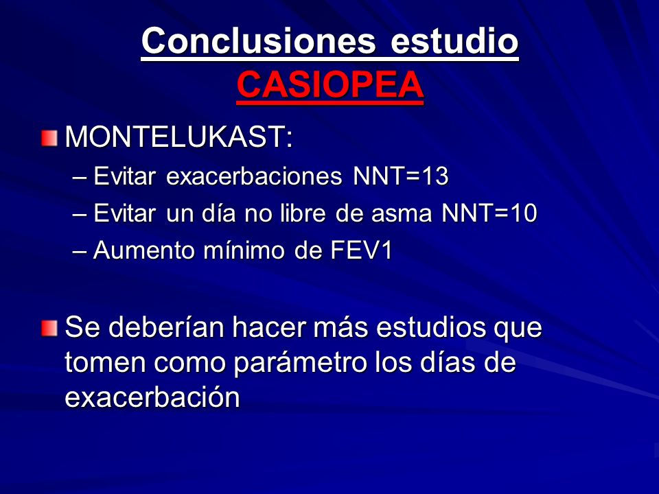 Conclusiones estudio CASIOPEA