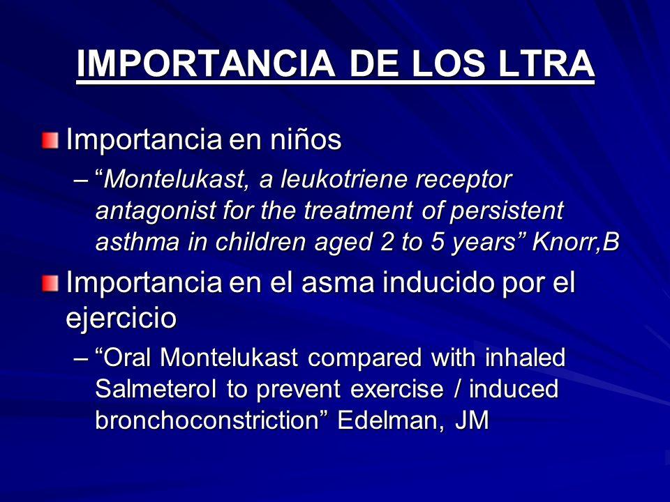 IMPORTANCIA DE LOS LTRA