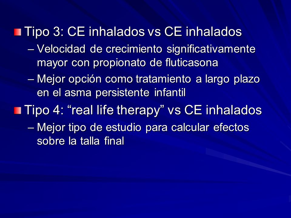 Tipo 3: CE inhalados vs CE inhalados