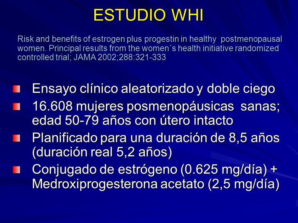 ESTUDIO WHI Ensayo clínico aleatorizado y doble ciego