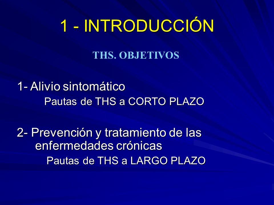1 - INTRODUCCIÓN 1- Alivio sintomático