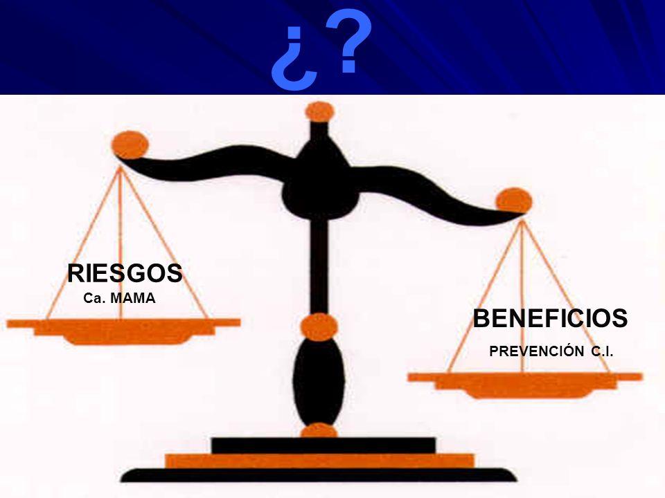 ¿ RIESGOS Ca. MAMA BENEFICIOS PREVENCIÓN C.I.