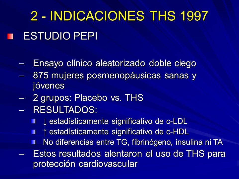 2 - INDICACIONES THS 1997 ESTUDIO PEPI