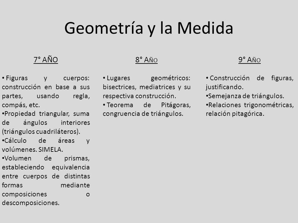 Geometría y la Medida 7° Año 8° Año 9° Año