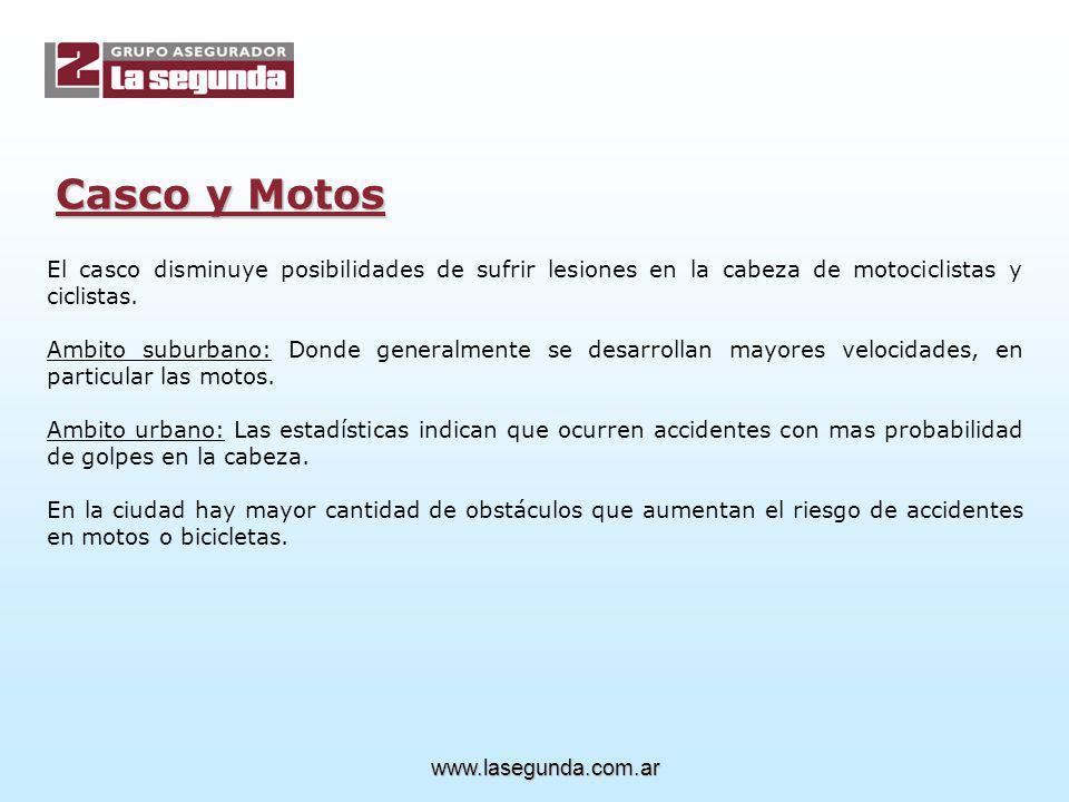 Casco y Motos El casco disminuye posibilidades de sufrir lesiones en la cabeza de motociclistas y ciclistas.