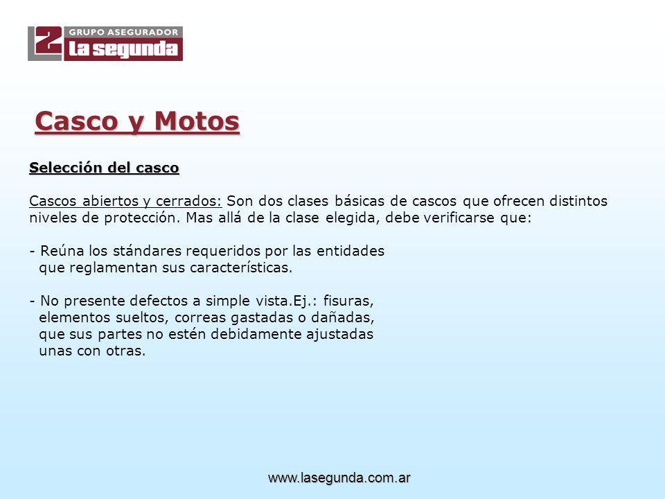 Casco y Motos Selección del casco