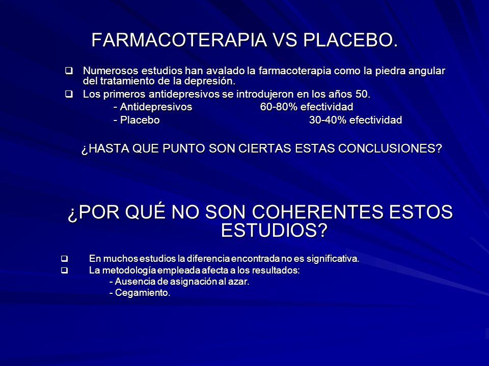 FARMACOTERAPIA VS PLACEBO.