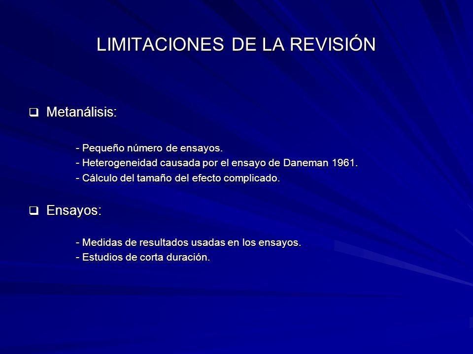 LIMITACIONES DE LA REVISIÓN