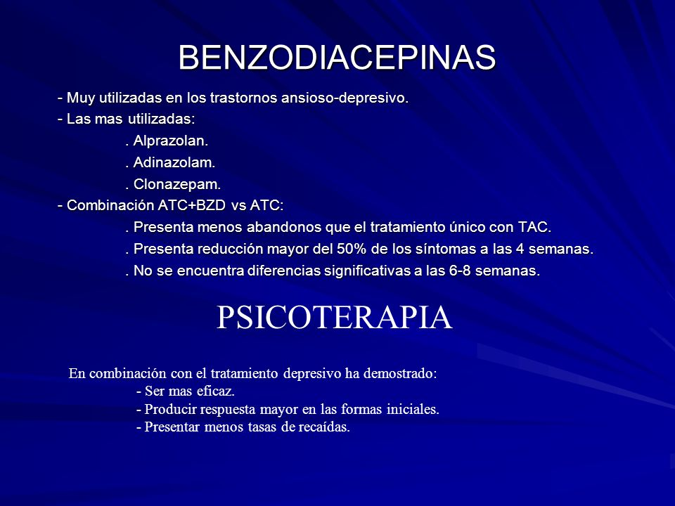 BENZODIACEPINAS PSICOTERAPIA