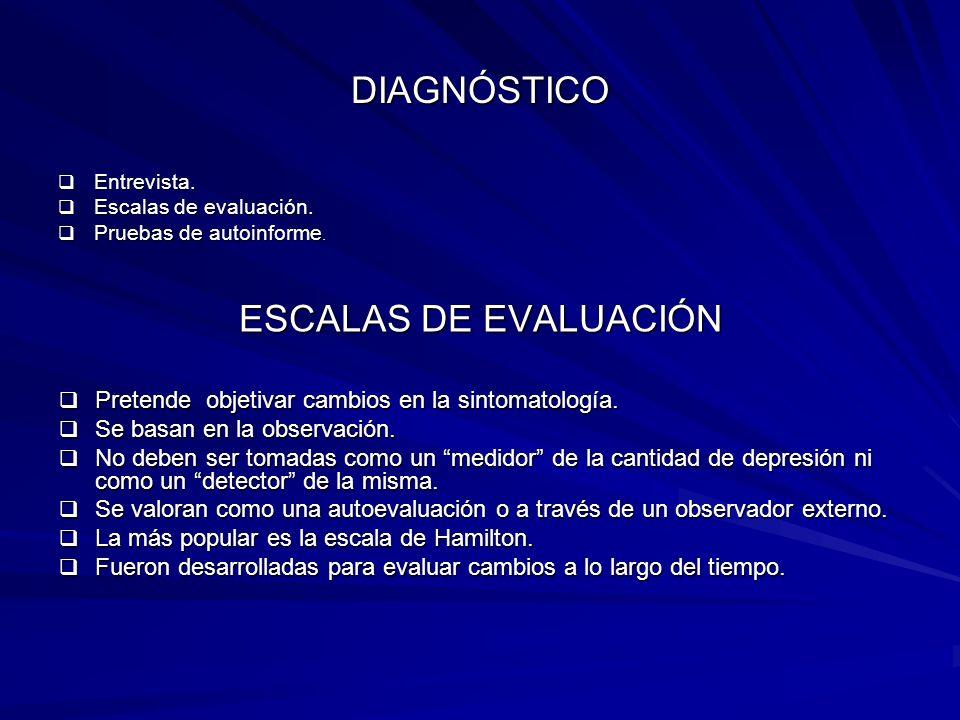 DIAGNÓSTICO ESCALAS DE EVALUACIÓN
