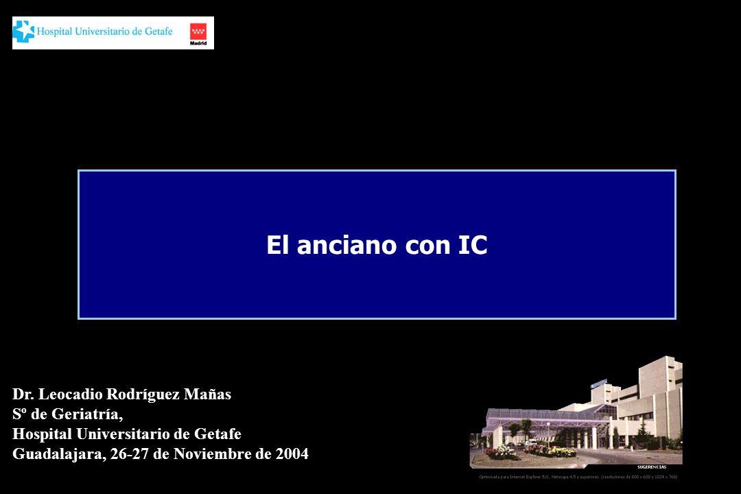 El anciano con IC Dr. Leocadio Rodríguez Mañas Sº de Geriatría,