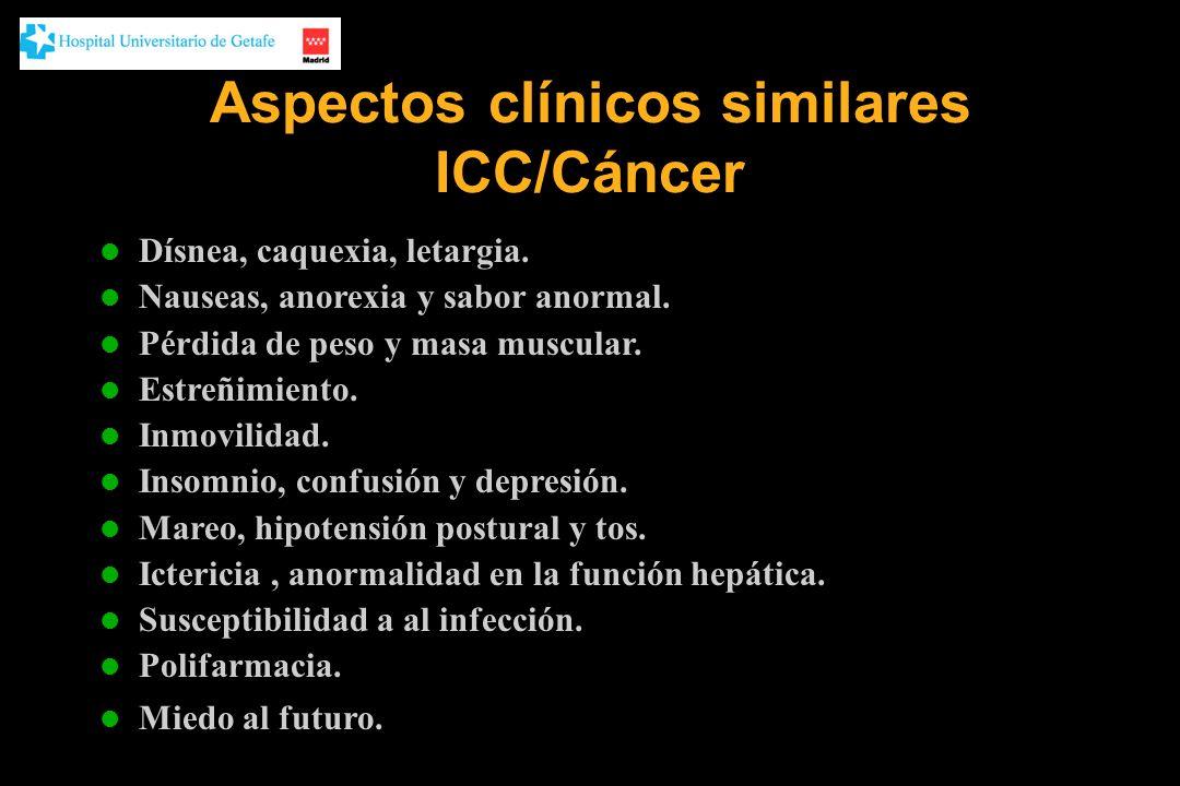 Aspectos clínicos similares ICC/Cáncer