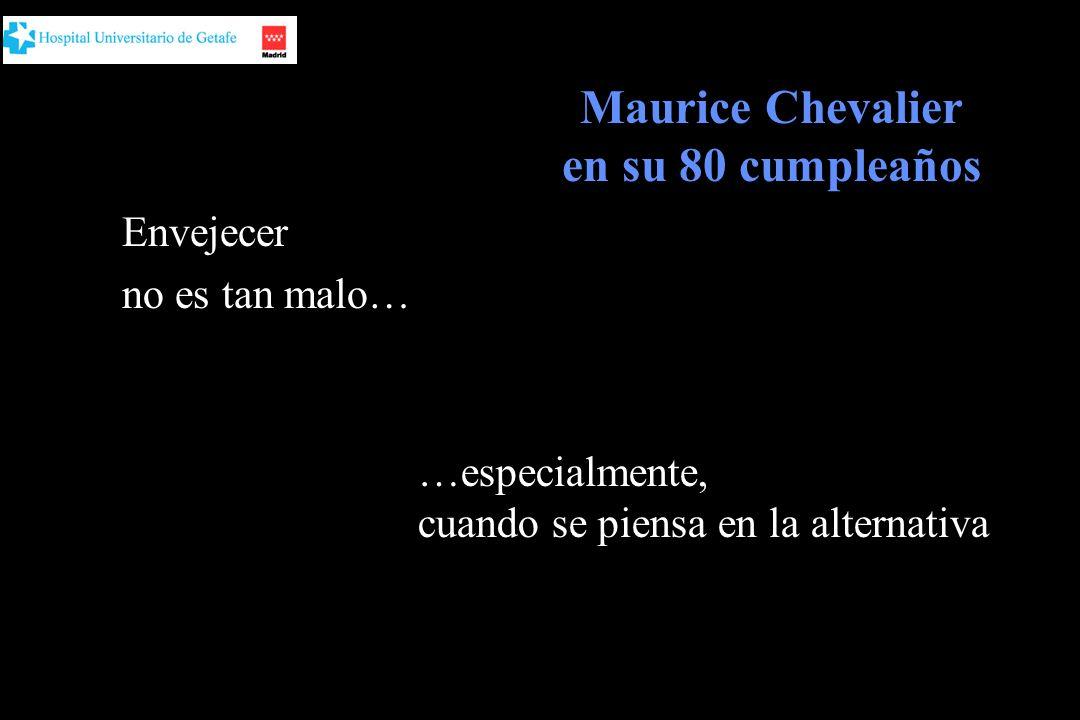 Maurice Chevalier en su 80 cumpleaños