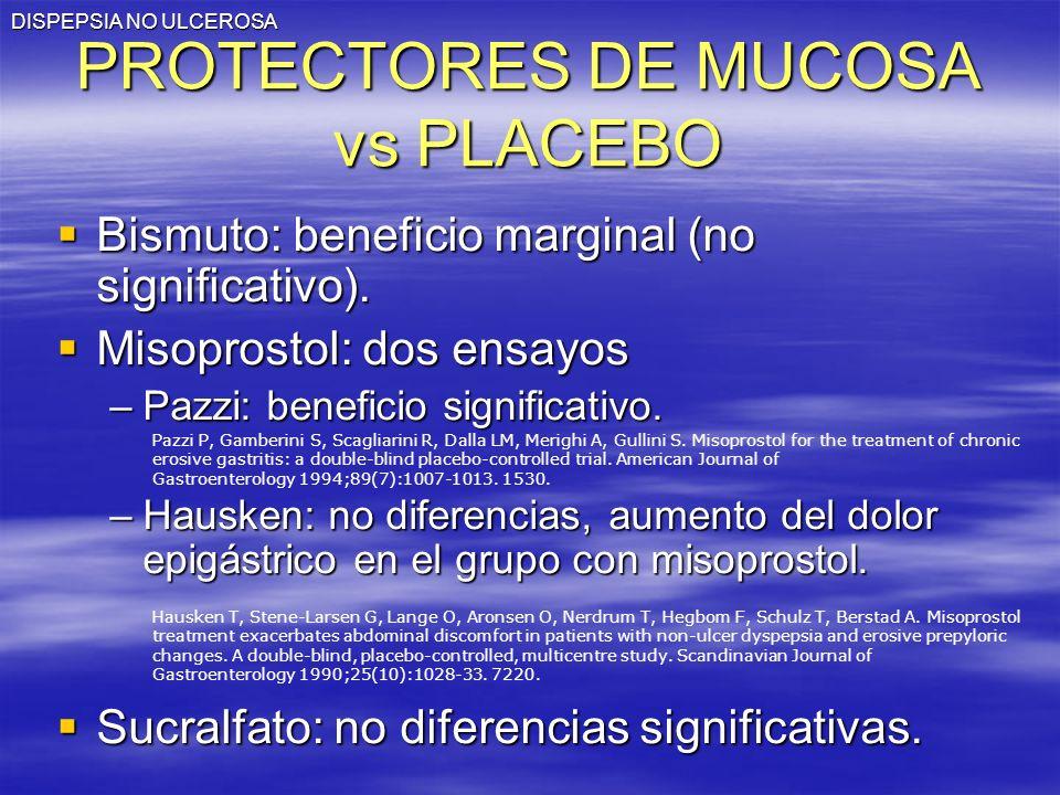 PROTECTORES DE MUCOSA vs PLACEBO