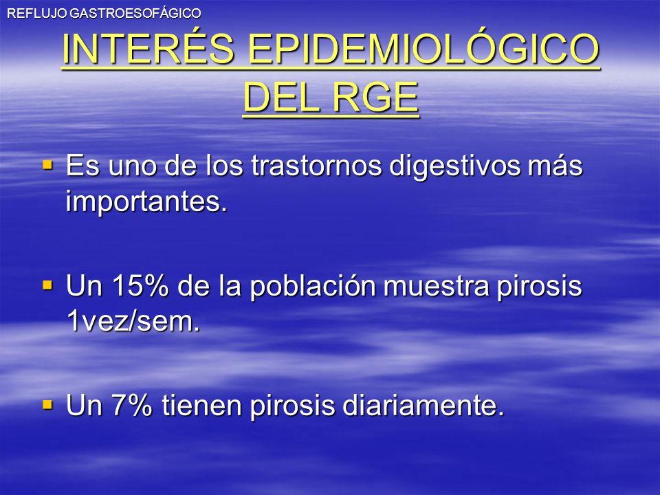 INTERÉS EPIDEMIOLÓGICO DEL RGE