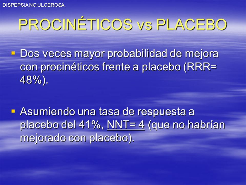 PROCINÉTICOS vs PLACEBO