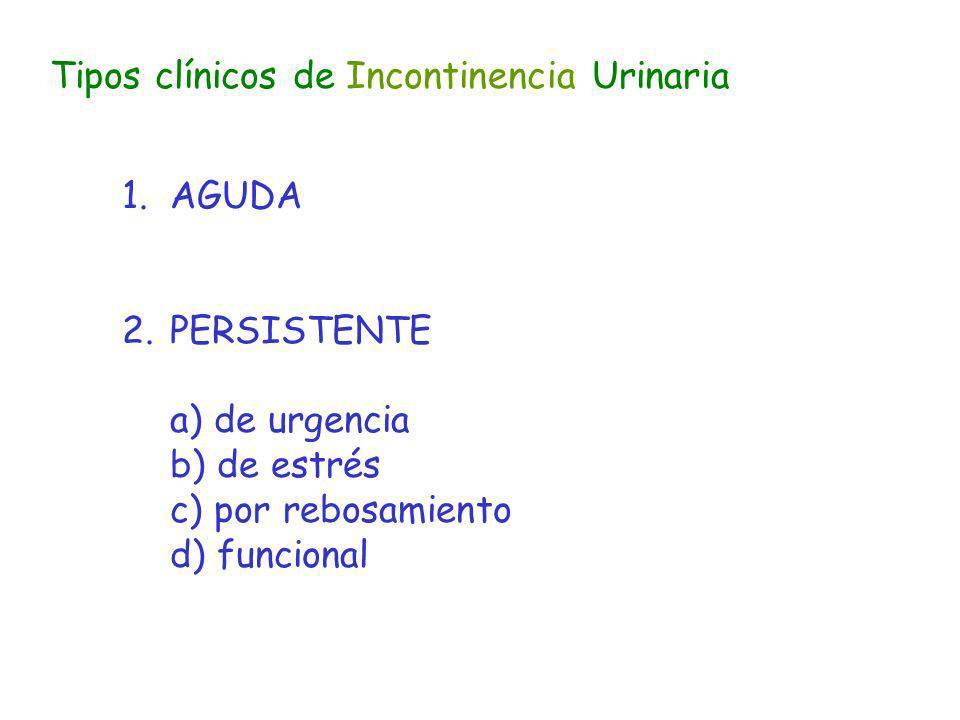 Tipos clínicos de Incontinencia Urinaria
