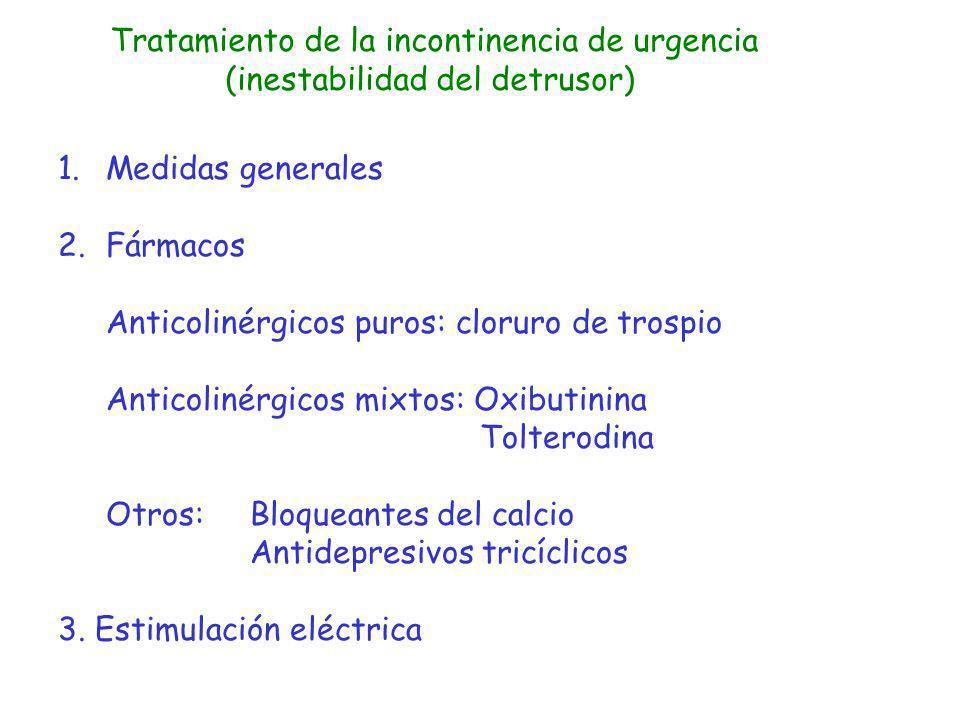 Tratamiento de la incontinencia de urgencia