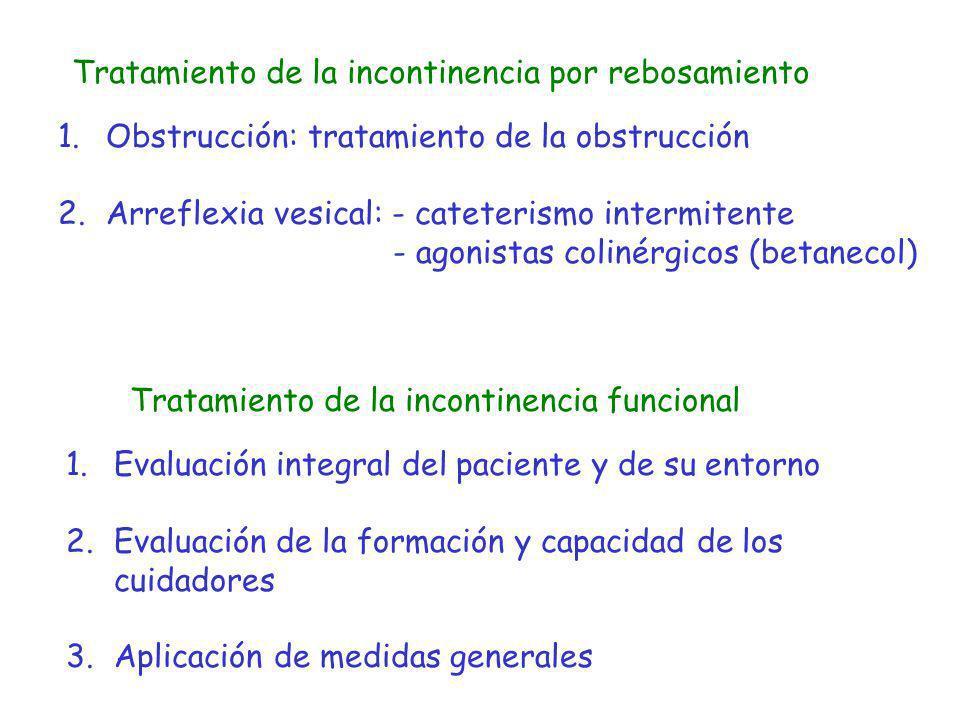 Tratamiento de la incontinencia por rebosamiento