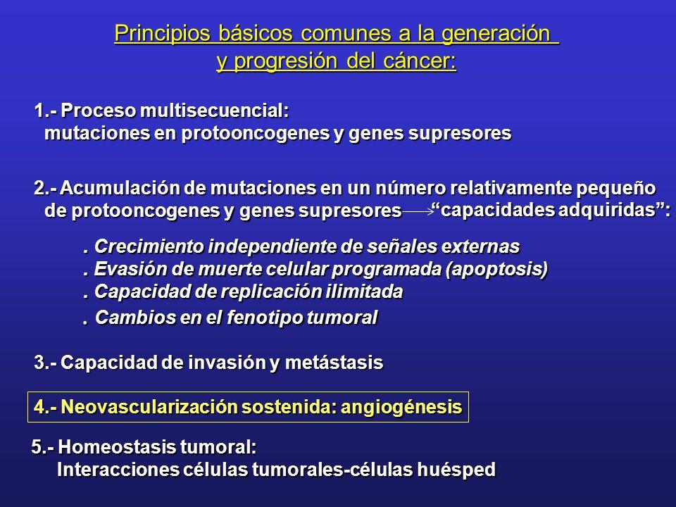 Principios básicos comunes a la generación y progresión del cáncer: