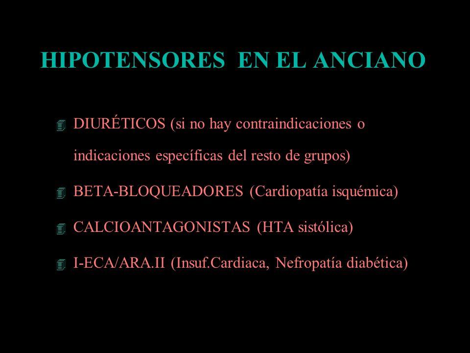 HIPOTENSORES EN EL ANCIANO