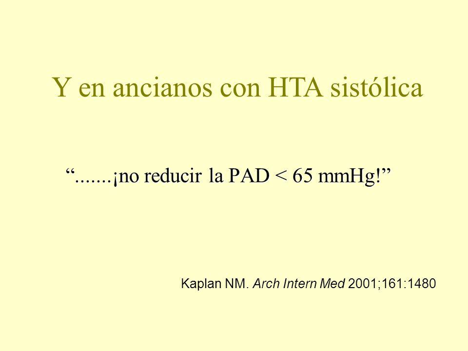 .......¡no reducir la PAD < 65 mmHg!