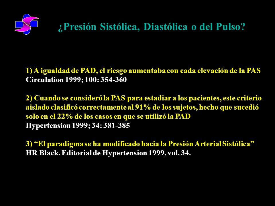 ¿Presión Sistólica, Diastólica o del Pulso