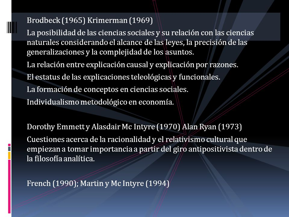 Brodbeck (1965) Krimerman (1969)
