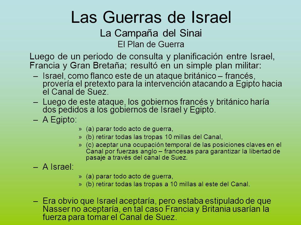 Las Guerras de Israel La Campaña del Sinai El Plan de Guerra