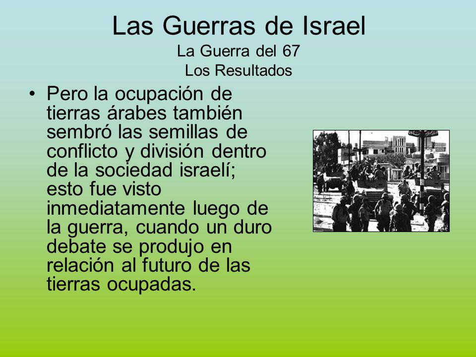 Las Guerras de Israel La Guerra del 67 Los Resultados