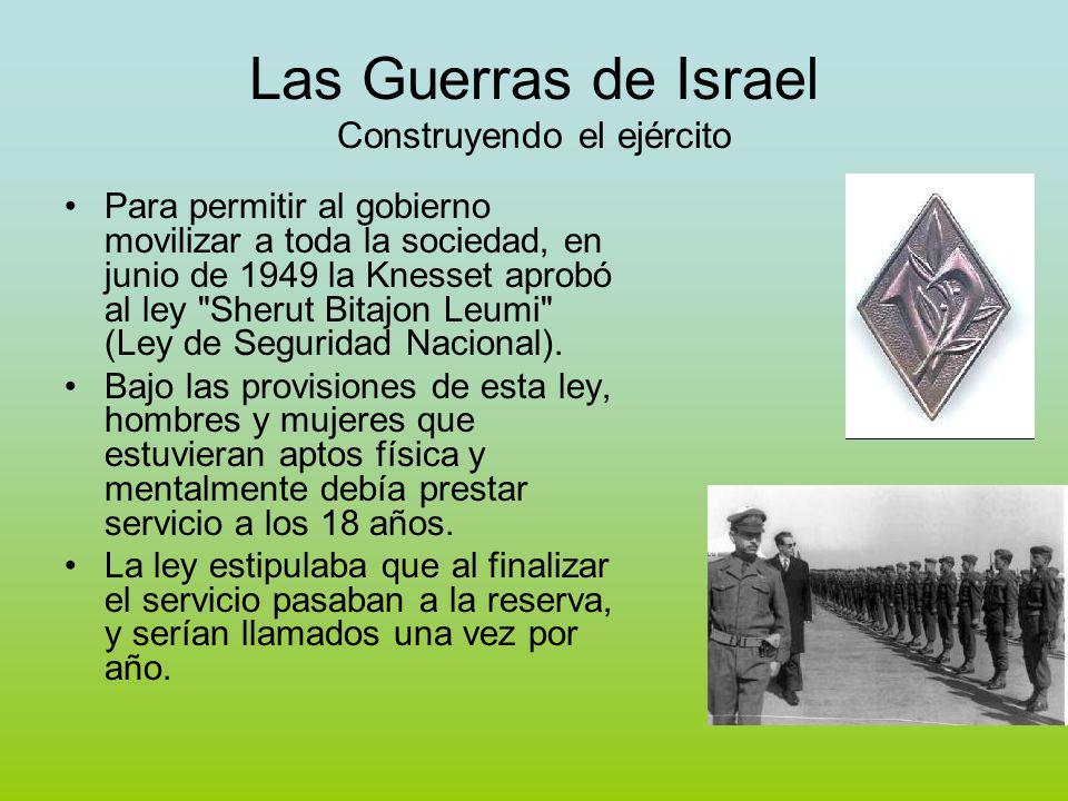 Las Guerras de Israel Construyendo el ejército