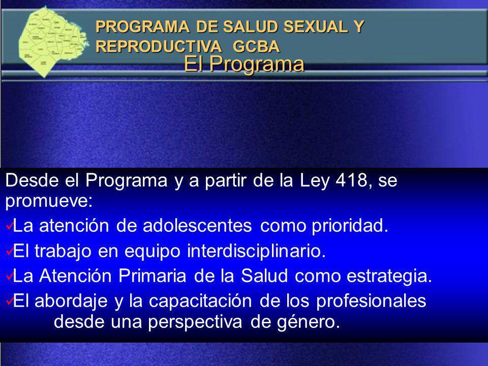 El Programa Desde el Programa y a partir de la Ley 418, se promueve: